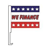 We Finance Clip On Car Flag. Qty 6. w-12