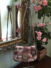 Coach Bag Pink Snaphead Soho Flap Satin Cross-body Swing Pack  F46788 B3