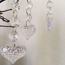 Super 30Pcs Acryl-Kristall-Korn-Girlande Kronleuchter hängen Hochzeit Home Decor