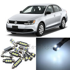 Error Free White 16pcs Interior LED Light Kit for 2011-2013 VW Jetta MK6 Wagon