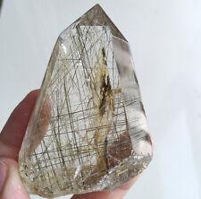 """147g Natural """" Black Tourmaline Copper Hair"""" quartz crystal healing"""
