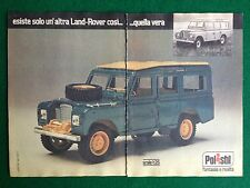 OC73 Pubblicità Advertising Clipping 19x13 cm (1977) LAND ROVER POLISTIL