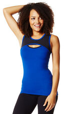 "NWT ZUMBA Wear Fitness ""Key Hole Front"" stretch athletic tank top SMALL New Nice"
