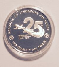 25th Anniversay Of The Republic Of Singapore Air Force Silver Medal