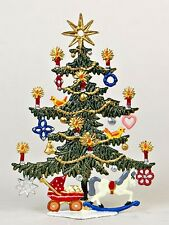 Artist Wilhelm Schweizer German Pewter Zinn - Christmas Tree with Star and Toys