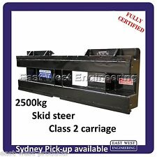 SKID STEER QUICK HITCH CARRIAGE ONLY QSS25E for skidsteer 2500kg FULLY CERTIFIED