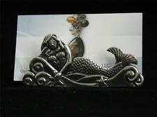Mermaid Lead Free Pewter Business Card Place Holder Canadian-Made NWT Desktop