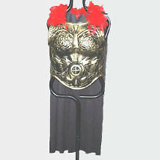 Antiqued Gold Plastic ROMAN ARMOR w/ CAPE warrior spartan greek trojan costume