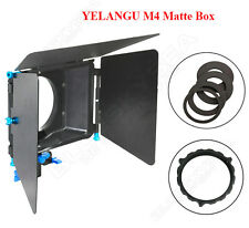 YELANGU M4 Matte Box DSLR Camera sunshade for 15mm Rod Rail Support Rig System