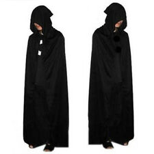 Halloween Costume Devil Long Tippet Cape Theater Prop Death Hoody Cloak Black