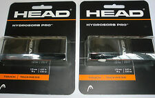 Head Hydrosorb Pro Tennis, Squash or Badminton Racket Grip (Black) - 2 Grips