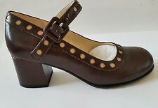 Women's/ladies Clarks ORLA KIELY Brown leather  DOROTHY SHOES SIZE 5 38 BNIB
