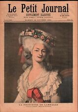 Portrait Princesse de Lamballe par Rioult à Versailles France 1892 ILLUSTRATION