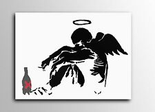 ACEO Banksy Drunken Angel Graffiti Street Art Canvas Giclee Print