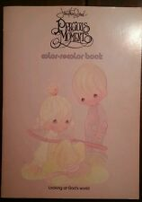 PRECIOUS MOMENTS COLOR RECOLOR Book Vintage 1979 VERY GOOD 7 Scenes