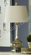 Slim FLUTED MERCURY GLASS Table Lamp Gourd NEIMAN MARCUS Silver
