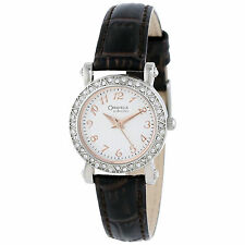 "Caravelle by Bulova Women's 43L126 Full 44 Crystal Bezel Watch ""LIST $130"""