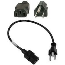 "18""inch/1.5ft Short Standard Power Cord/Cable/Wire PC/AC/TV IEC320 C13 $SHdisc"