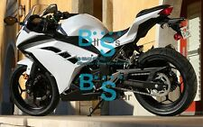 White INJECTION Fairing  Fit Kawasaki ninja 300 13 14 2013-2016 08 A1