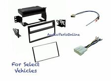 Car Stereo Radio Dash Install Mount Kit Combo for select 2007-2011 Nissan Versa