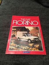 1985 Fiat 127 Florino UK Van Brochure