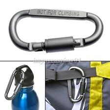 Carabiner Aluminum Alloy Locking Clip Camping Snap Hook Keychain Screwgate Screw