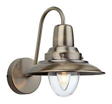FirstLight Antique Brass with Clear Glass Fisherman Wall Light 8686AB