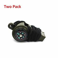 3-1 Whistle Thermometer Compass Emergency Survival Camping Safety fishing rod To