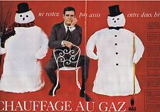 PUBLICITE ADVERTISING 094 1957 GAZ DE FRANCE chauffage au gaz (2 pages)