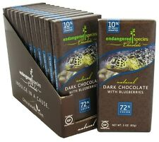 Endangered Species - Dark Chocolate Bar with Blueberries 72% Cocoa - 3 oz.