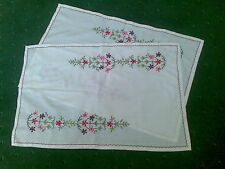BEAUTIFUL HAND MADE WORK TROLLY PLACEMATS HARDLY USED SET OF 2 BARGAIN