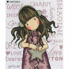 Bothy Threads Gorjuss Santoro tous ces mots Compté Cross Stitch Kit xg33