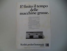 advertising Pubblicità 1974 KODAK POCKET INSTAMATIC CAMERA