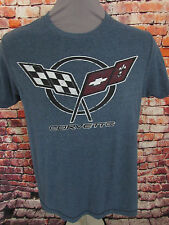 CORVETTE Size Small GM General Motors Official Licensed Product T Shirt Blue