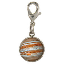 Planet Jupiter Silver Plated Clip Charm bracelets phone purse space astronomy