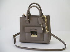 Michael Kors Bridgette Dark Dune Leather Small Messenger Handbag