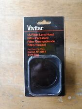 Vivitar 1A Filter Lens Hood for Cannon AF 35 mm II Sure Shot cameras - new