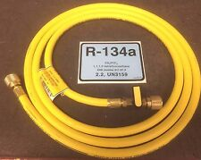 "R134a CPS Refrigeration Hose 8' or 96"" Yellow With Ball Valve, 1/2"" ACME R-134a"