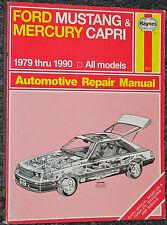 Haynes Repair Manual 1979 - 1990 Ford Mustang & 1979 - 1986 Mercury Capri