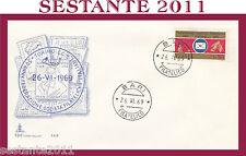 ITALIA FDC CAPITOLIUM FEDERAZIONE SOCIETà FILATELICHE ITALIANE 1969  BARI G213