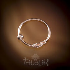 Rose Gold Plated Nose Ring Traditional Indian Sterling Silver Nose Ring (code 6)