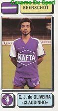 051 DE OLIVEIRA CLAUDINHO BRAZIL K.BEERSCHOT.VAV STICKER FOOTBALL 1983 PANINI
