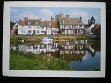 POSTCARD GLOUCESTERSHIRE TEWKESBURY  - VIEW ACROSS THE POND