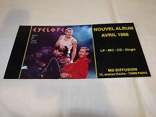 CYCLOPE - Petite Publicité de magazine !!!! AVRIL 1988 !!!