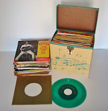 100 LOT 45 RPM Records - The Drifters, Elvis (x7), Beatles (x2), Yoko, Harrison