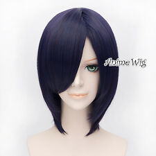 Tokyo Ghoul Blue Purple 30CM Short Layered Anime Cosplay Heat Resistant Full Wig