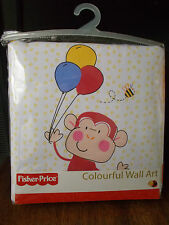 Fisher Price Discover and Grow Colourful Wall Art / padded wall hangings new