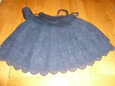 ABERCROMBIE & FITCH - Navy Blue Layered Lace Skirt - Size Small