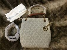 NWT MICHAEL Michael Kors Jet Set Signature PVC Medium Chain Shoulder Tote Bag