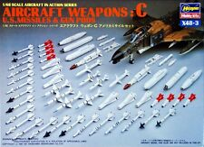 Hasegawa X48-3 AIRCRAFT WEAPONS C U.S. MISSILES & GUN PODS 1/48 Scale Kit
